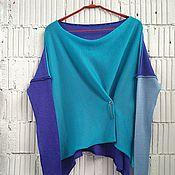 Одежда ручной работы. Ярмарка Мастеров - ручная работа КН_003_СГБ Блузон 3-хцветный. Handmade.