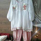 Одежда ручной работы. Ярмарка Мастеров - ручная работа Пижама в стиле шебби-шик.. Handmade.