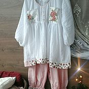 Одежда handmade. Livemaster - original item Pajamas in the style of shebbi-chic.. Handmade.