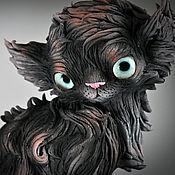 Подарки к праздникам handmade. Livemaster - original item Black cat Cube. Handmade.