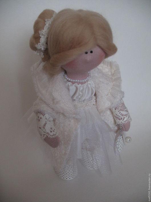 Коллекционные куклы ручной работы. Ярмарка Мастеров - ручная работа. Купить Интерьерная кукла ручной работы.. Handmade. Белый