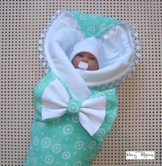 """Для новорожденных, ручной работы. Ярмарка Мастеров - ручная работа. Купить Комплект на выписку """"Одуванчики"""". Handmade. Одуванчики, на выписку мальчику"""