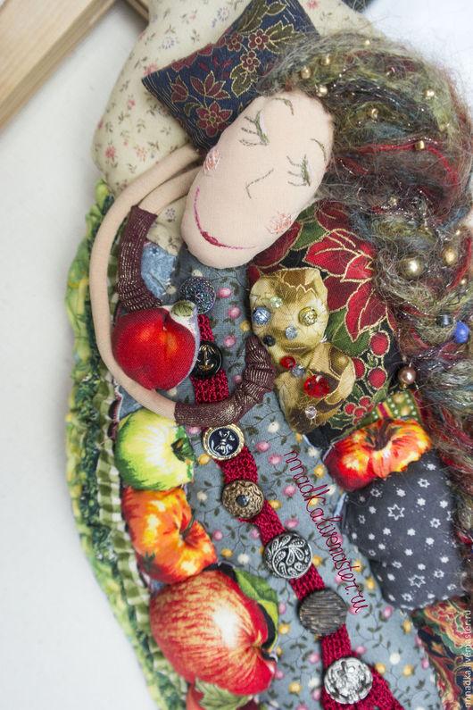 Коллекционные куклы ручной работы. Ярмарка Мастеров - ручная работа. Купить сон №3 про яблоки текстильная кукла ручной работы. Handmade.