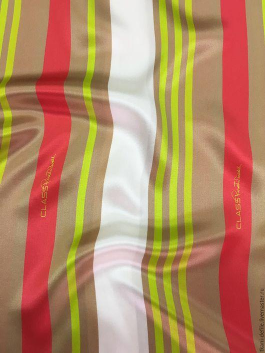 Шитье ручной работы. Ярмарка Мастеров - ручная работа. Купить Итальянский шелк  Roberto Cavalli. Handmade. Комбинированный, ткани
