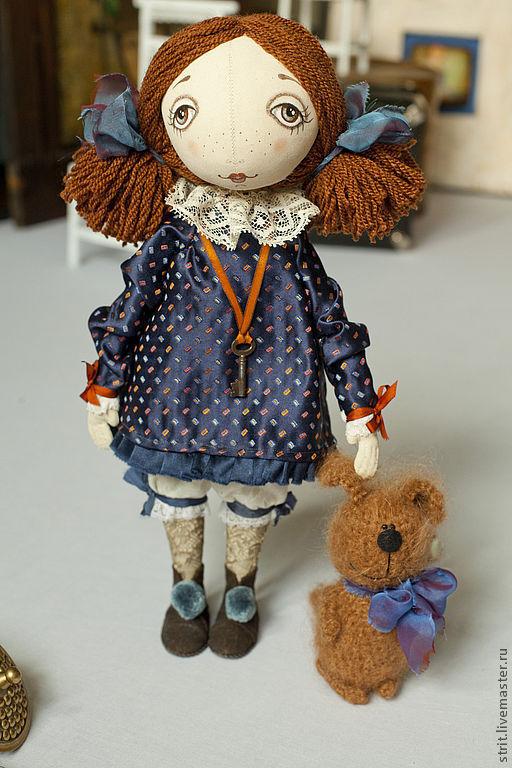 Куклы тыквоголовки ручной работы. Ярмарка Мастеров - ручная работа. Купить Матильда. Handmade. Текстильная кукла, бязь, хлопок