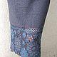 """Юбки ручной работы. Ярмарка Мастеров - ручная работа. Купить Авторская юбка вязаная теплая """"Жасмин"""". Handmade. Серый, вязание"""
