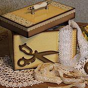 """Для дома и интерьера ручной работы. Ярмарка Мастеров - ручная работа короб для рукодельницы """"Ситец"""". Handmade."""