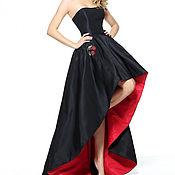 Одежда ручной работы. Ярмарка Мастеров - ручная работа Платье черно-красное вечернее. Handmade.