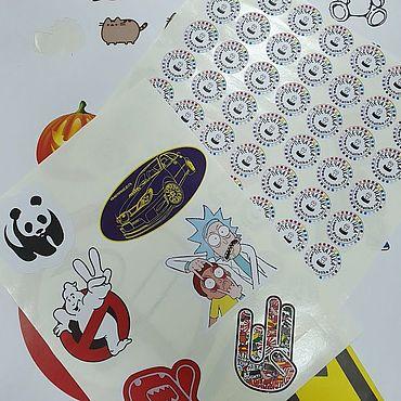 Дизайн и реклама ручной работы. Ярмарка Мастеров - ручная работа Бумажные наклейки вашей формы и размера. Handmade.