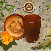 Посуда handmade. Livemaster - original item Tea set made of Cedar (Cup saucer) Siberian pine #NC2. Handmade.