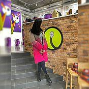 Одежда ручной работы. Ярмарка Мастеров - ручная работа Вязаный кардиган сотами шерстяной. Handmade.