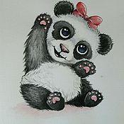 Картины и панно ручной работы. Ярмарка Мастеров - ручная работа Панда девочка в детскую. Handmade.