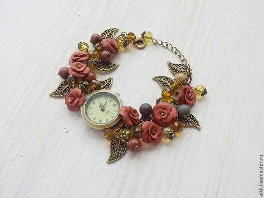 """Часы ручной работы. Ярмарка Мастеров - ручная работа. Купить Часы ручной работы """"Шоколад"""". Handmade. Часы ручной работы"""