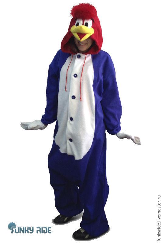 Woody Woodpecker Kigurumi - Custom Handmade - Anti-pill Fleece Pyjamas, Cosplay costumes, Magnitogorsk,  Фото №1