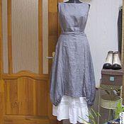 Одежда ручной работы. Ярмарка Мастеров - ручная работа Платье-сарафан Монвизо, 100% лен Loro Piana, стиль бохо. Handmade.