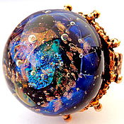 Украшения handmade. Livemaster - original item Ring Sea galaxy. Handmade.