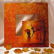 "Для дома и интерьера handmade. Livemaster - original item Clock ""Autumn Blues"". Handmade."