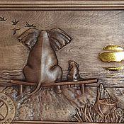 Картины и панно ручной работы. Ярмарка Мастеров - ручная работа Резное дерево_Кто рядом. Handmade.