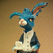 Куклы и игрушки ручной работы. Ярмарка Мастеров - ручная работа синий заяц. Handmade.