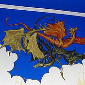 Картины и панно ручной работы. Ярмарка Мастеров - ручная работа роспись стен и потолка в детской. Handmade.