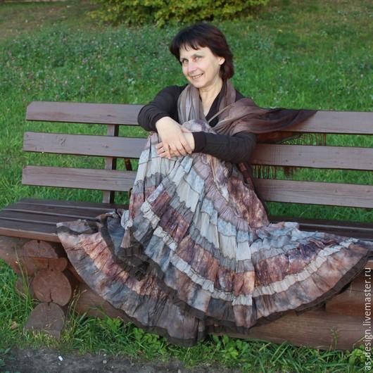 Вы будете выглядеть женственно.безумно привлекательны и соблазнительно в шелковой юбке Бохо .Модель Наталья