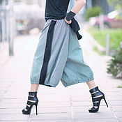 Одежда handmade. Livemaster - original item Pants Maxi striped gray - PA0735CW. Handmade.