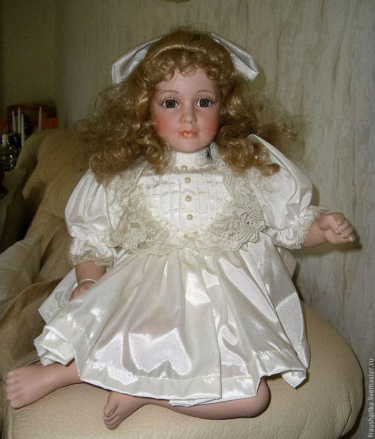 Коллекционные куклы ручной работы. Ярмарка Мастеров - ручная работа. Купить Фарфоровая куколка Нежность сердечная. Handmade. Комбинированный