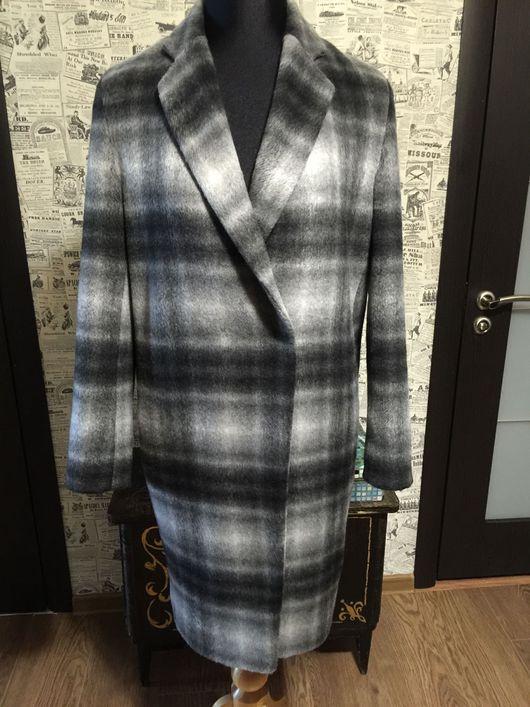 Верхняя одежда ручной работы. Ярмарка Мастеров - ручная работа. Купить Пальто из шерсти в клетку. Handmade. Пальто, пальто на подкладе