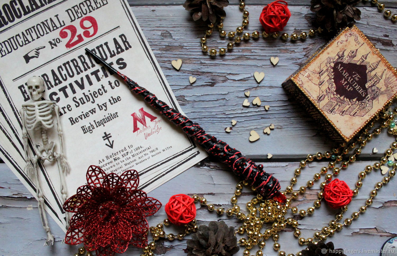 Author's Magic wand Harry Potter black red, Magic wand, Elektrostal,  Фото №1