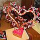 Персональные подарки ручной работы. Ярмарка Мастеров - ручная работа. Купить Дерево любви из бисера. Handmade. Сердце, бисер, дерево