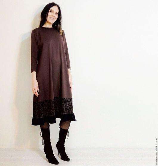 Платья ручной работы. Ярмарка Мастеров - ручная работа. Купить Платье из мозаики джерси Северное Солнце. Handmade. Комбинированный