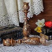 Для дома и интерьера handmade. Livemaster - original item Candle holder large / imitation old copper/