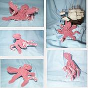 Куклы и игрушки ручной работы. Ярмарка Мастеров - ручная работа Вязаный осьминог. Сувенир для дайвера. Handmade.