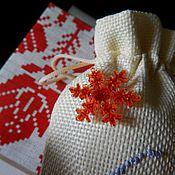 Подарки к праздникам manualidades. Livemaster - hecho a mano Navidad regalo de la bolsa, embalaje, decoración de la bolsa. Handmade.