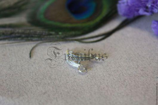 Для украшений ручной работы. Ярмарка Мастеров - ручная работа. Купить Бейл для украшений №6, серебро 925. Handmade. Серебряный