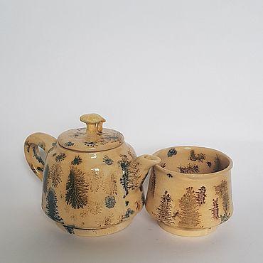 """Посуда ручной работы. Ярмарка Мастеров - ручная работа Заварочный чайник """"Лесной"""". Handmade."""