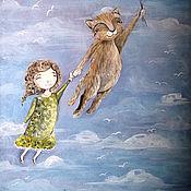 Картины и панно ручной работы. Ярмарка Мастеров - ручная работа Воздушные шары (репродукция). Handmade.
