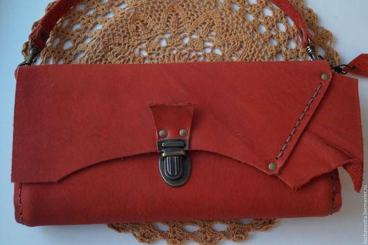 """Женские сумки ручной работы. Ярмарка Мастеров - ручная работа. Купить Клатч - """"Клатчик""""  - сумка кожаная женская. Handmade."""