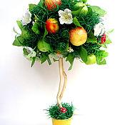 """Цветы и флористика ручной работы. Ярмарка Мастеров - ручная работа Топиарий """"Яблочный спас"""". Handmade."""