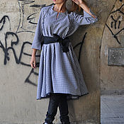Одежда handmade. Livemaster - original item Tunic dress long sleeve DR0086CT. Handmade.