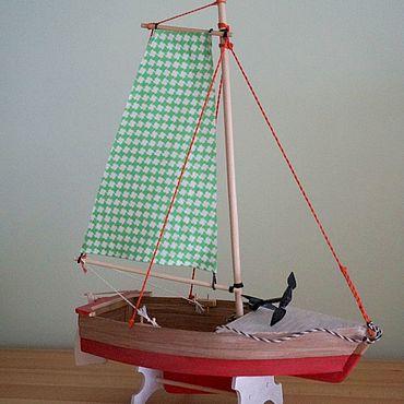 Сувениры и подарки ручной работы. Ярмарка Мастеров - ручная работа Модели: Парусная лодка. Handmade.