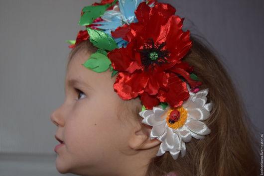 Детская бижутерия ручной работы. Ярмарка Мастеров - ручная работа. Купить Украинский венок.. Handmade. Комбинированный, для карнавала, обруч для волос