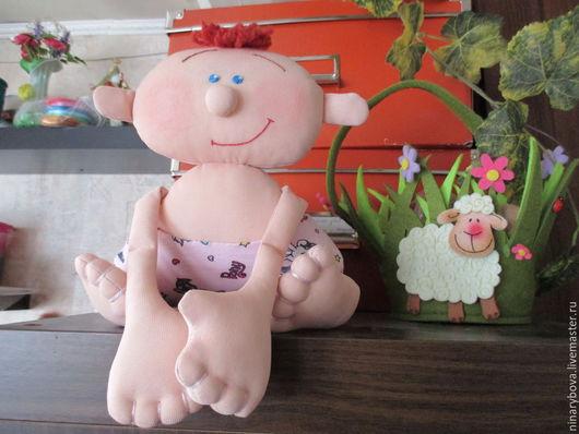 Человечки ручной работы. Ярмарка Мастеров - ручная работа. Купить Малышок Ромочка. Handmade. Розовый, ручная работа handmade