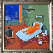 Картины и панно ручной работы. Ярмарка Мастеров - ручная работа у голубого экрана. Handmade.