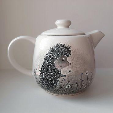 """Посуда ручной работы. Ярмарка Мастеров - ручная работа Чайники: """"Ежик в тумане"""". Handmade."""