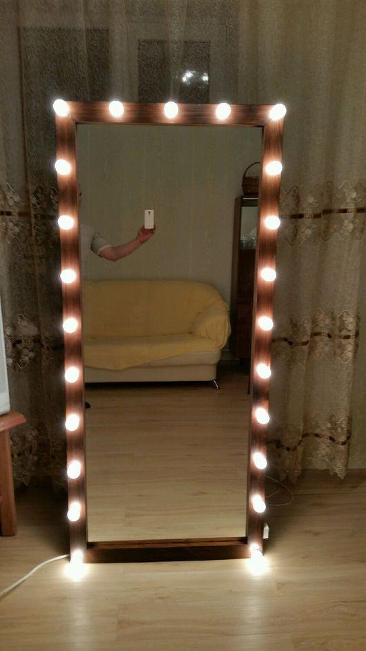Зеркала ручной работы. Ярмарка Мастеров - ручная работа. Купить Зеркало для сэлфи, гримерное.. Handmade. Зеркало, массив дерева