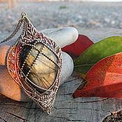 """Украшения ручной работы. Ярмарка Мастеров - ручная работа Кулон с лабрадоритом """"Осеннее солнце"""". Handmade."""