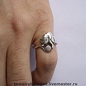 Украшения handmade. Livemaster - original item Playing cat-ring. Handmade.