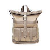 Сумки и аксессуары handmade. Livemaster - original item Backpacks: Women`s Beige Leather Backpack Bag Wendy Mod. CP33-151. Handmade.