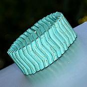 Украшения handmade. Livemaster - original item Wide turquoise bracelet. imitation. Handmade.